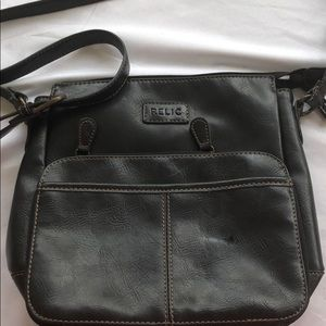 Relic dark brown shoulder bag